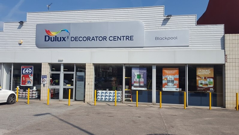 Blackpool dulux decorator centre for Local wallpaper shops