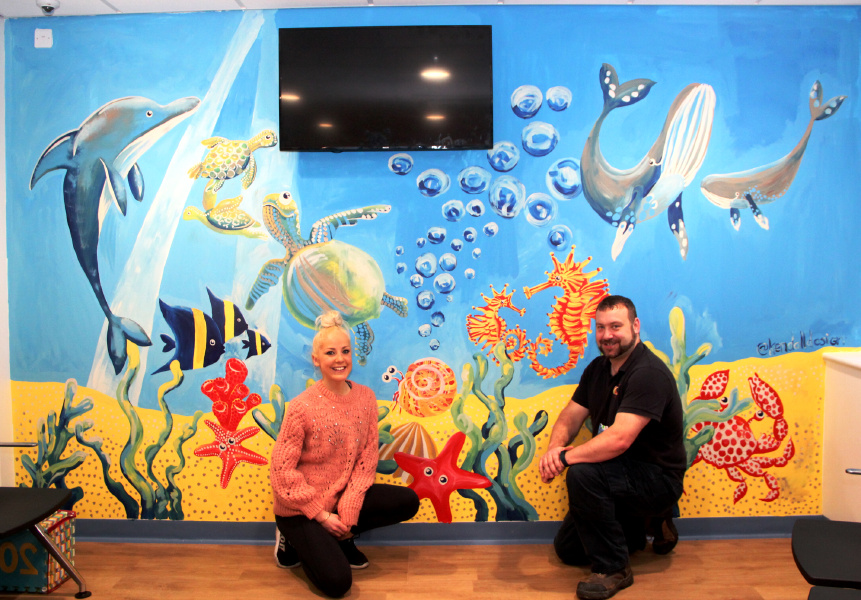 Children's Waiting Room Transformed into a Work of Art