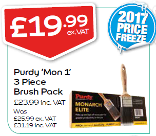 Purdy 'Mon 1' 3 Piece Brush Pack