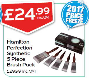 Hamilton Perfection Synthetic 5 Piece Brush Pack