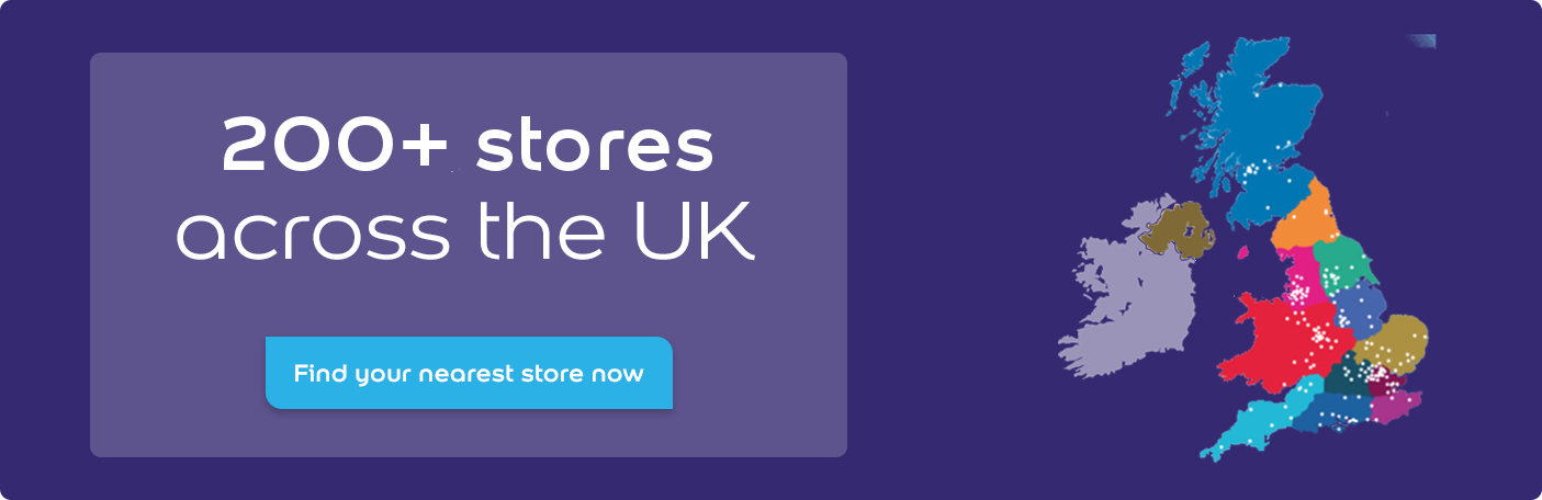 Over 200 stores across the UK