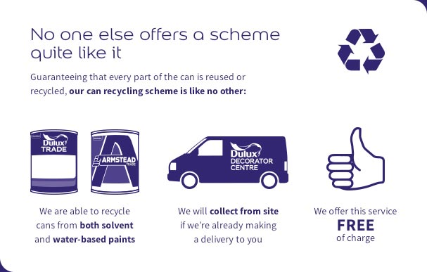 Save resources and reduce waste with our can recycling scheme