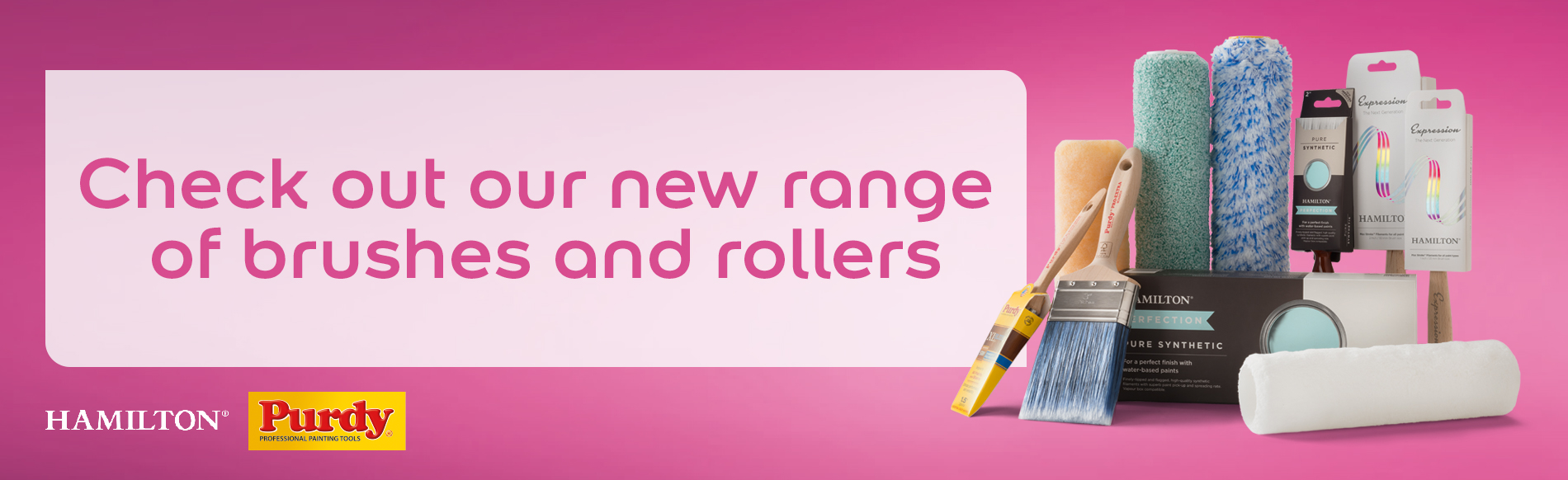 Check out our new range of brushes and rollers