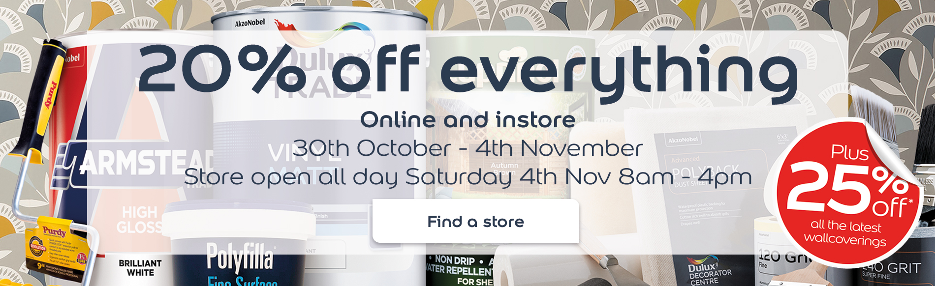20% off everything online and in store