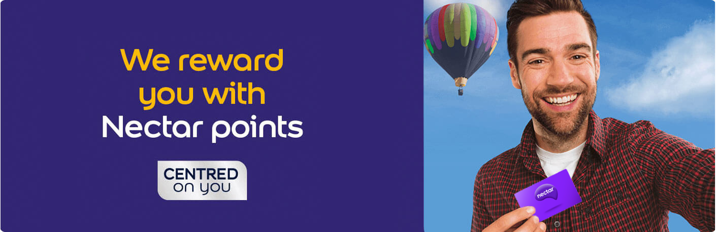 We reward you with Nectar points
