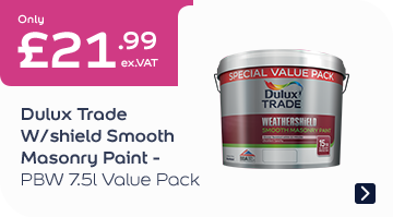 Dulux Trade W/Shield Smooth Masonry Paint – PBW 7.5L Value Pack