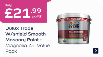 Dulux Trade W/Shield Smooth Masonry Paint – Mag 7.5L Value Pack £21.99