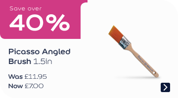 Save over 40% Picasso Angled Brush 1.5in Was £11.95, now £6.99