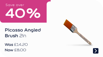 Save over 40% Picasso Angled Brush 2in Was £14.20, now £7.99
