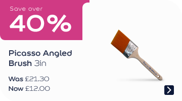 Save over 40% Picasso Angled Brush 3in Was £21.30, now £11.99