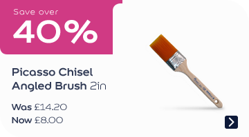 Save over 40% Picasso Chisel Angled Brush 2in Was £14.20, now £7.99