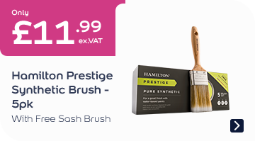 Only £11.99 with Free Sash Brush Hamilton Prestige Synthetic Brush 5pk