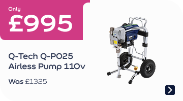 Only £995 Q-Tech Q-P025 Airless Pump 110v Was £1325