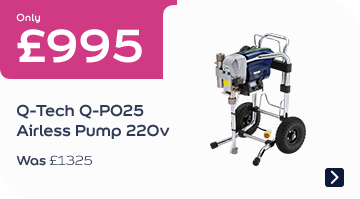 Only £995 Q-Tech Q-P025 Airless Pump 220v Was £1325