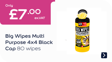 Big Wipes Multi Purpose 4x4 Black Cap 80 Wipes