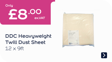 DDC Heavyweight Twill Dust Sheet 12x9FT