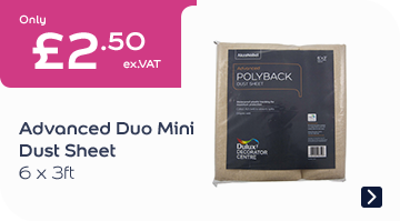 Advanced Duo Mini Dust Sheet 6X3FT