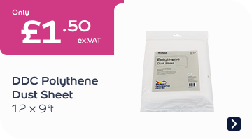 DDC Polythene Dust Sheet 12x9FT