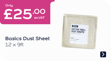 Basics Dust Sheet 12x9ft 5pk EACH