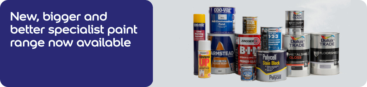 New, bigger and better specialist paint range now available
