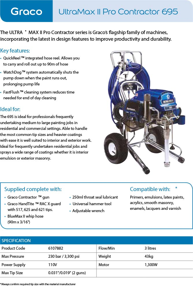 Graco ultrmax pro contractor 695
