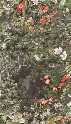 Cole Son Woodland Wallpaper W 0 70m X L 10 05m Coral Olive Charcoal